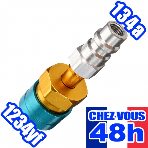 R12 vers R134A Adaptateur Raccord Raccord R12 vers R134A pour voiture Air conditionn/é Chargement AC R1234YF vers R134A Coupleur rapide c/ôt/é bas