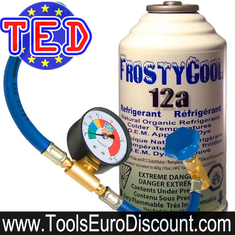 Kit de recharge de gaz Frostycool 12a + raccordement clim auto R134a  Duracool R12