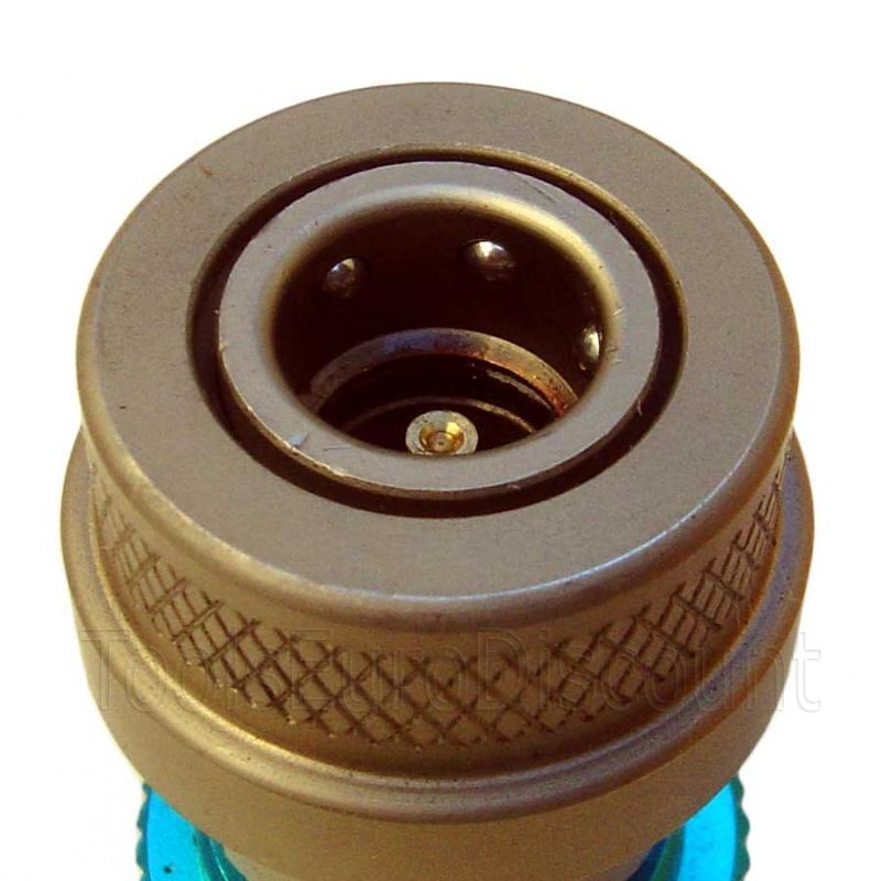 raccord rapide avec vanne pour la recharge gaz clim auto r134 basse pr. Black Bedroom Furniture Sets. Home Design Ideas