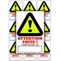 Lot 10 Etiquettes Localisation de Fuite