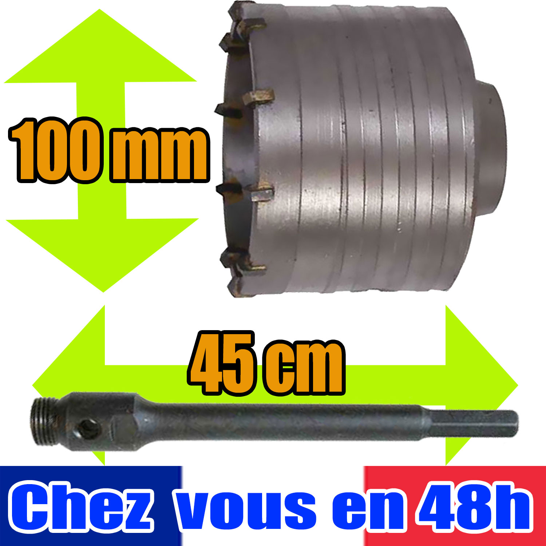 Diametre Scie Cloche Prise De Courant détails sur kit de forage béton trepan scie cloche 100 mm tige 45 cm 947605  580460 brique