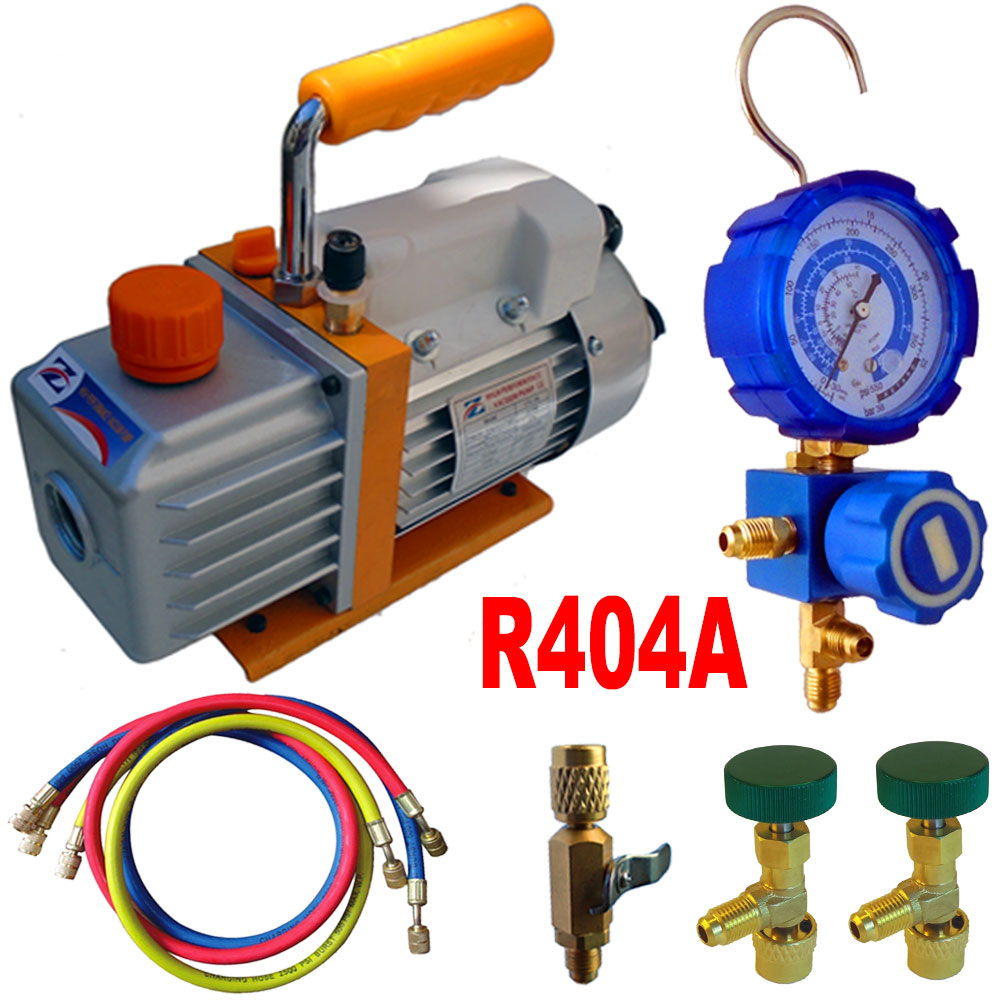 kit pompe a vide recharge r404a chez ted outils pour. Black Bedroom Furniture Sets. Home Design Ideas